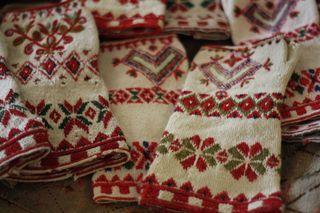 inspiration--knitted in tvåändsstickning from dala floda (Karin Kahnlund)