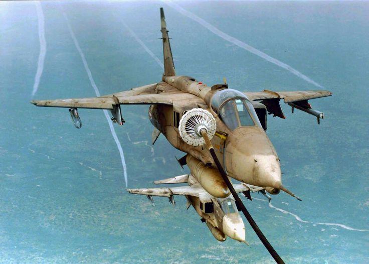 French Jaguar A refueling.