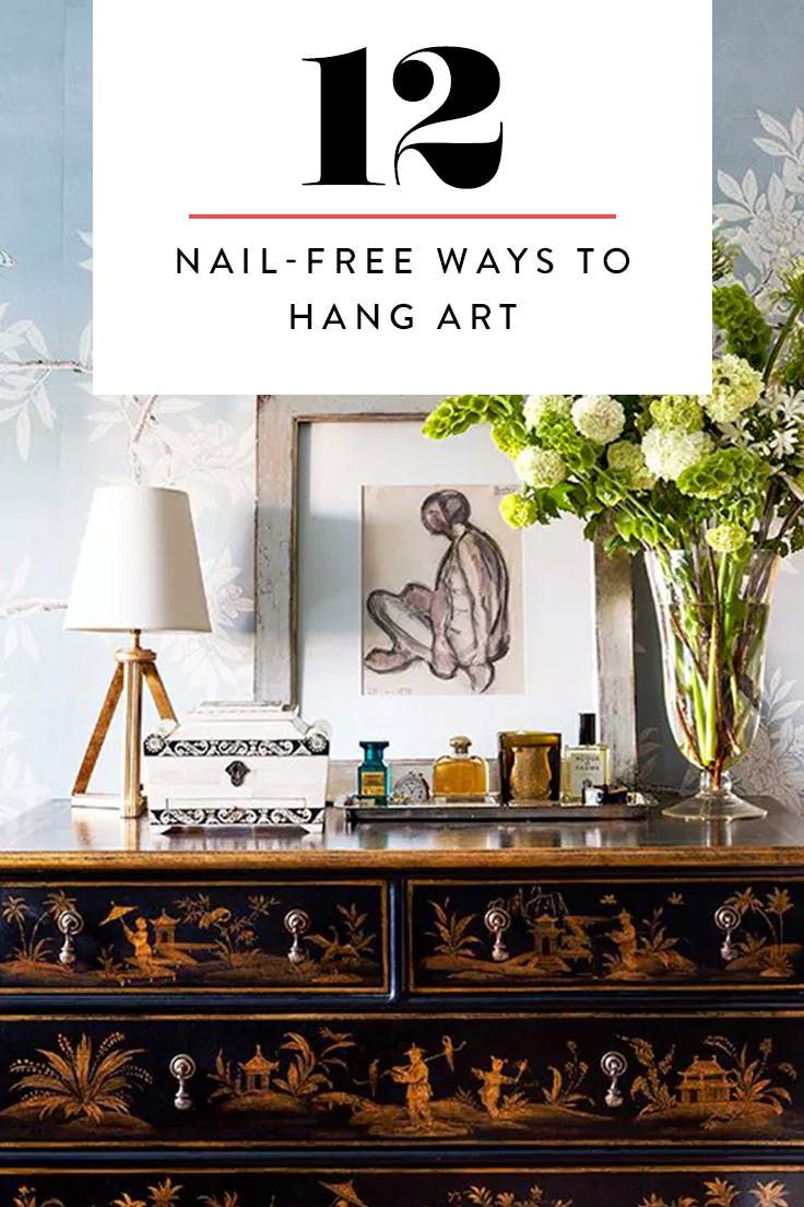 "How to ""Hang"" Your Art Without Putting Holes in Your Walls  via @PureWow"