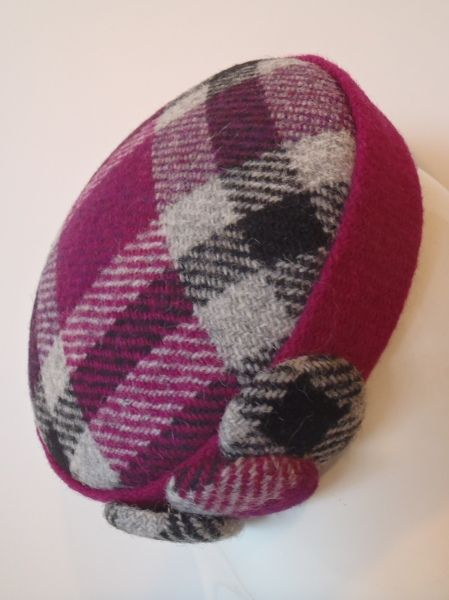 PINKLY PLAID by GREER MCDONALD #millinery #hats #HatAcademy