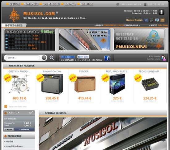 MUSISOL - Tienda Online  Tienda de Instrumentos musicales Online. Guitarras eléctricas, bajos, Outlet, baterías electrónicas y baterías acústicas, percusión, Pianos, teclados, amplificadores… Informática musical, controladores djs