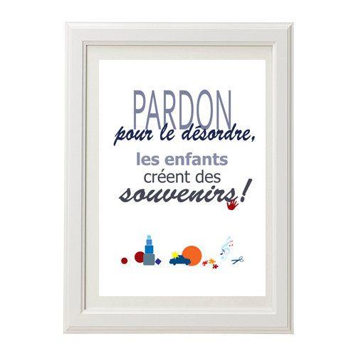 affiche à imprimer humour, pardon pour le désordre, imprimable instantanément, printable art, INSTANT DOWNLOAD, wall decor