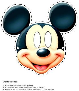 mascara do mickey para imprimir