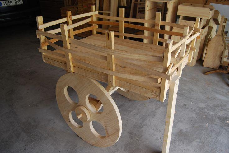Carro r stico tipico de granja perfecto para negocios o for Carros de madera para jardin