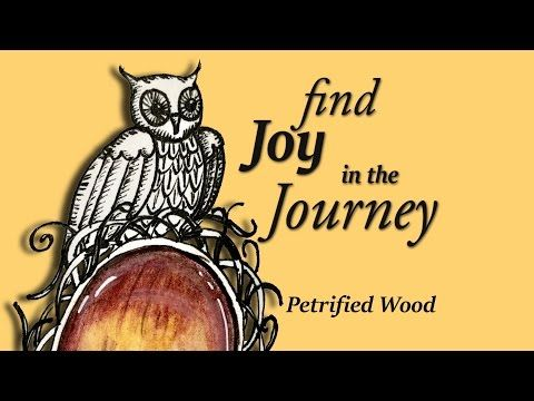 Easy Drawing Tutorial Owl in Nest, Petrified Wood Doodle Gem - YouTube