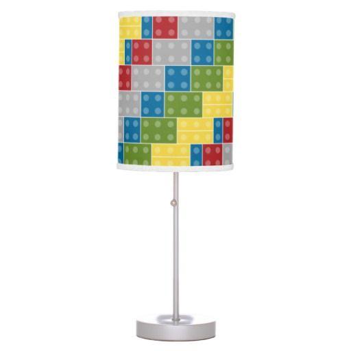 Pop Art Pattern Colorful Bricks For Boys Desk Lamp, Great For Lego Fans! A