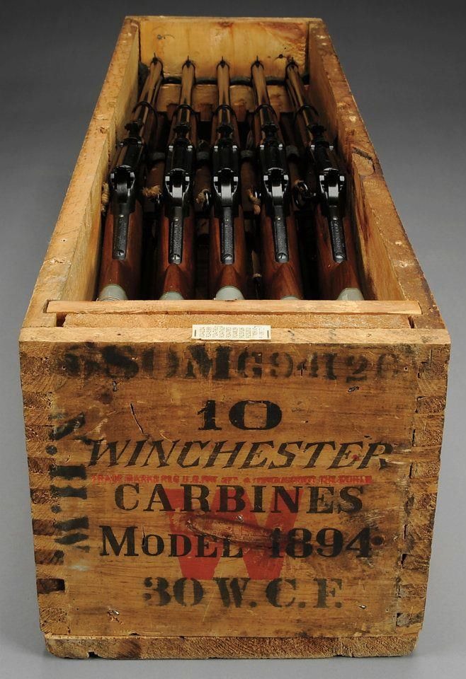 Nothing like a box full of winchester rifles to make you feel safer.