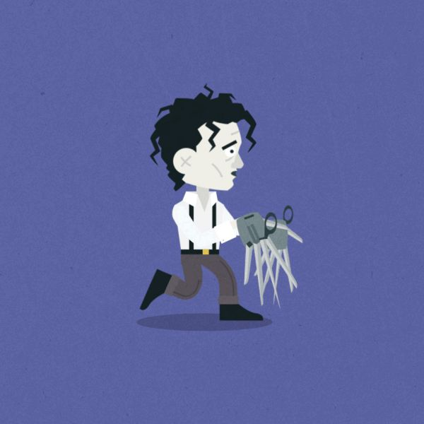 Edward Scissorhands. See more Animated Halloween gifs of Classic and Cult Movie Monsters at http://www.ifitshipitshere.com/animated-halloween-gifs/