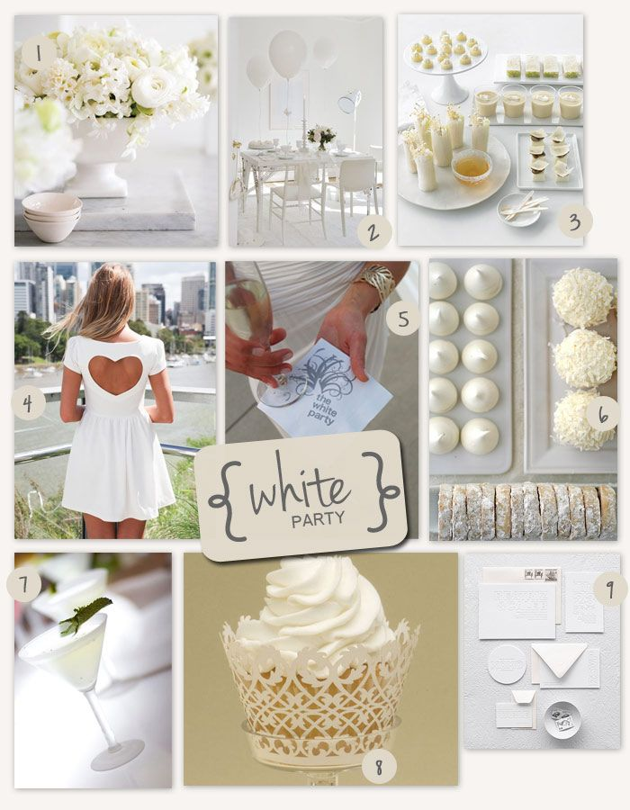 Perfect Party Theme White Party Favor Affair Blog Party Party