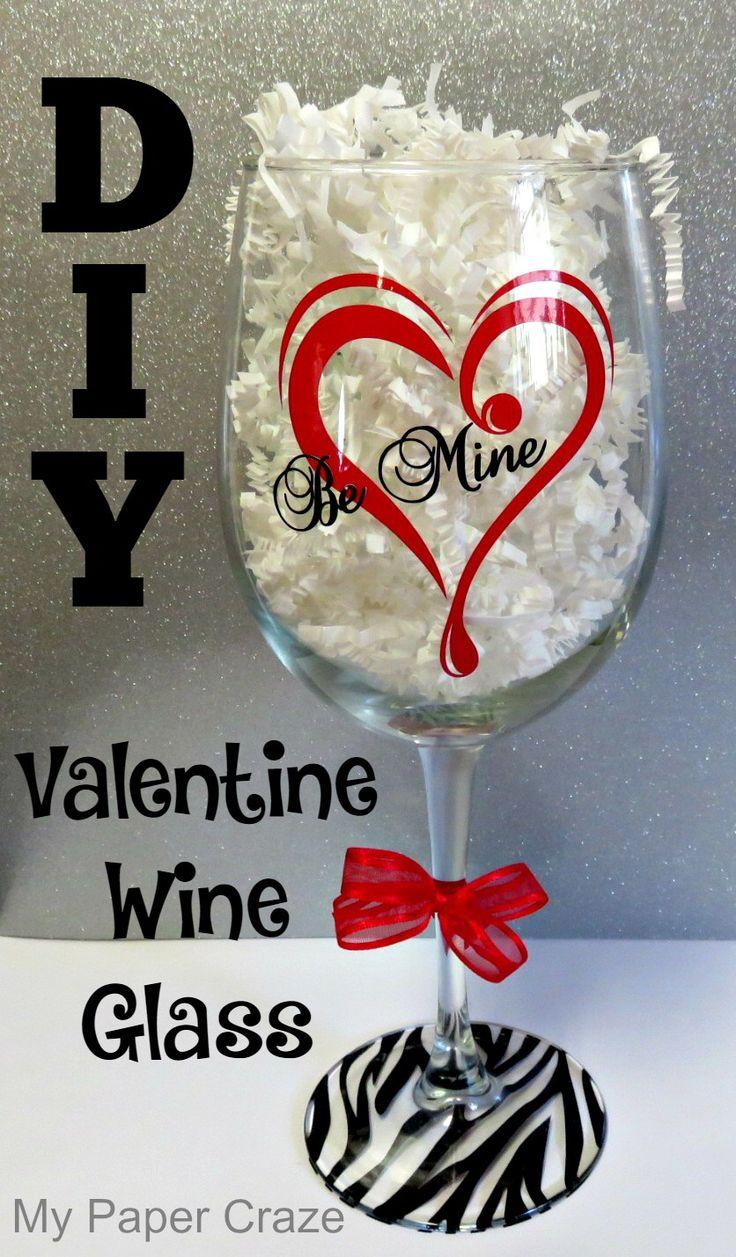 diy valentine wine glass my paper craze
