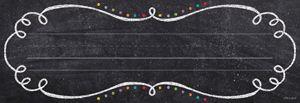 Chalk It Up! Swirls and Twirls Name Plates #creativeteachingpress #classroomwishlist #classroomideas
