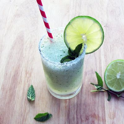 A Blended Margarita Mojito is the perfect Friday #happyhour treat.