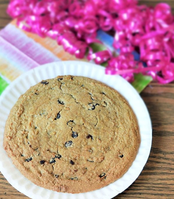 Copycat Chocolate-Chip Cookie Cake (like the ones at the mall). But with a secret ingredient that makes it healthy!!- Garbanzos (Did it!- Turned out pretty good. It will require a good food processor or don't attempt. Be sure to use a decent size pizza pan or something like it. It needs to be thin to get crispy. Made it with Reeses Pieces and it was boss!)