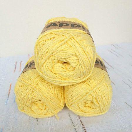 Yellow Bamboo yarn,Each skein: 100 gr, knitting yarn by Yarnshopping on Etsy