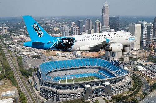The Carolina Panthers Livery Airbus 319 | Flickr - Photo Sharing!