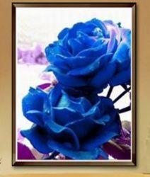 Cross Stitch Kit - Blue Rose