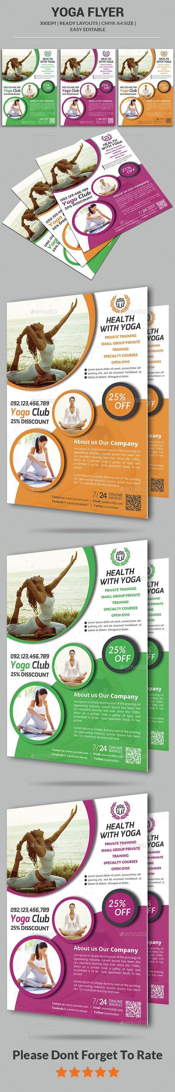 Best Yoga Flyer Images On   Yoga Flyer Flyer Design