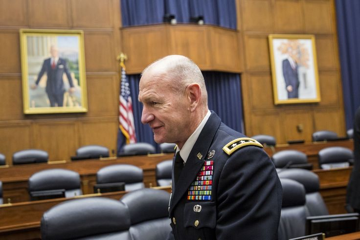 U.S. military has launched a new digital war against the Islamic State By Ellen Nakashima and Missy Ryan, The Washington Post, 15 July 2016 Caption: Gen. Edward Cardon, commander of U.S. Army Cyber Command, leaves a House Armed Services Emerging Threats and Capabilities Subcommittee hearing titled 'Cyber Operations: Improving the Military Cyber Security Posture in an Uncertain Threat Environment,' on Capitol Hill i on March 4. (Drew Angerer/Getty Images)