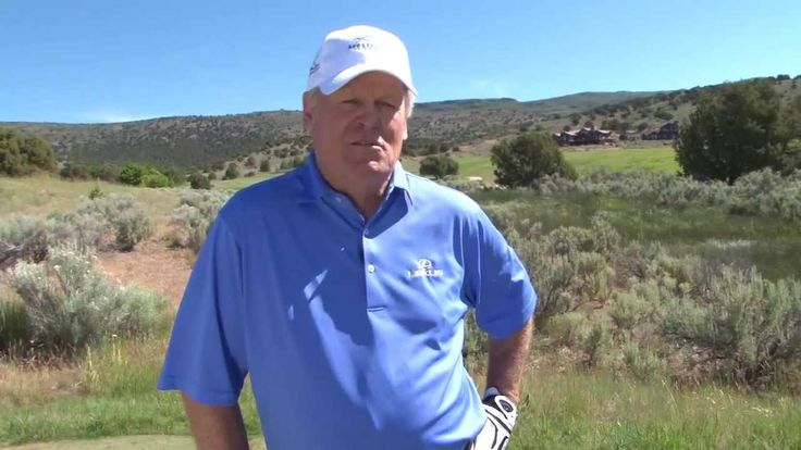 Johnny Miller talks about a more modern grip, swing, and finish. Perfect. It works. Helps keep the club following down the line on iron play.