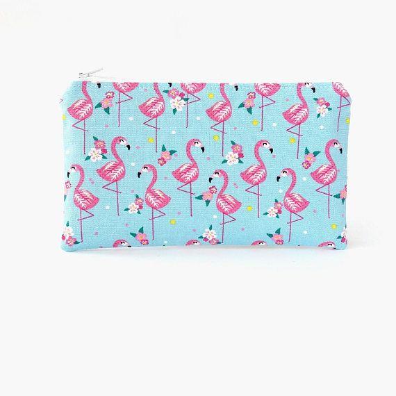 Flamingo zipper pouch Pencil case Girls Pencil bag