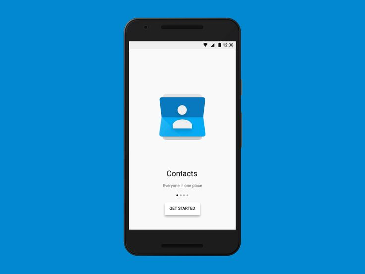 Welcome Screen - Contacts app