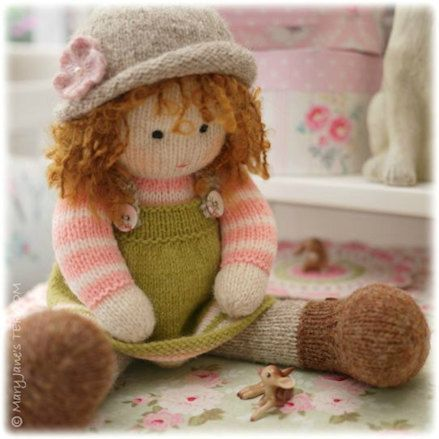 A Tearoom Doll Hat/ PDF Toy Knitting Pattern / TEAROOM Dolls Hats/ INSTANT Download