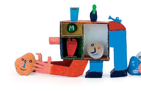 Artist in LA LA Land Illustration: Recycled Cardboard Paper Toys of Andre da Loba
