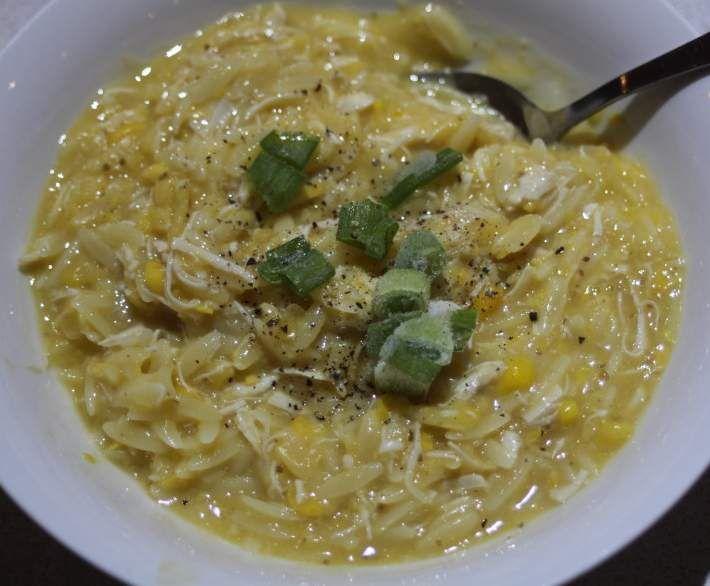 Recipe Chicken, Corn and Risoni Soup