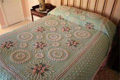 Beautiful!  Grandma always had chenille bed spreads.