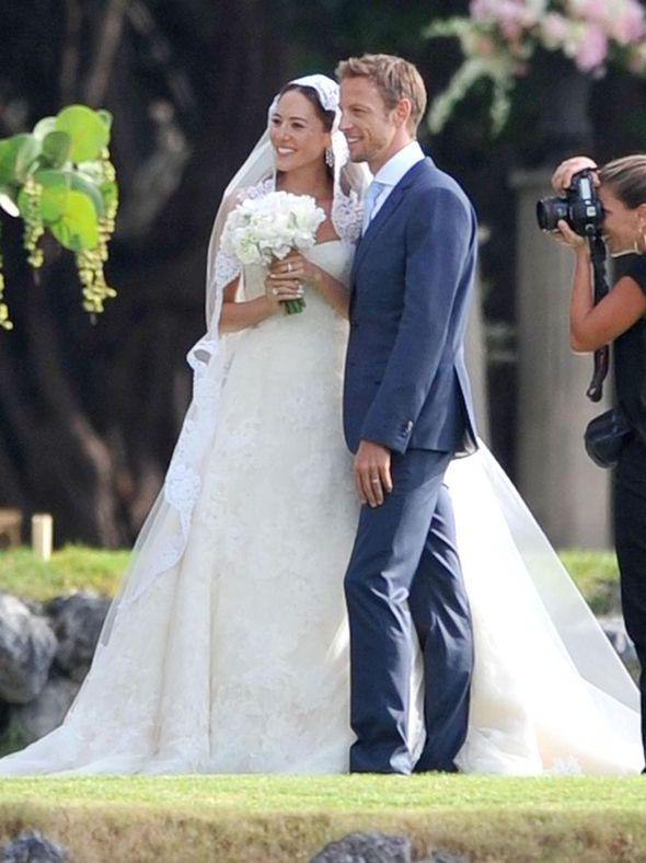 Jenson Button marries Jessica Michibata - Hawaii 2014