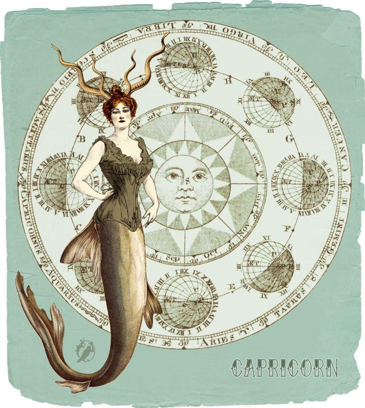 My Vintage Horoscope -Capricorn- by ~Momothecat on deviantART