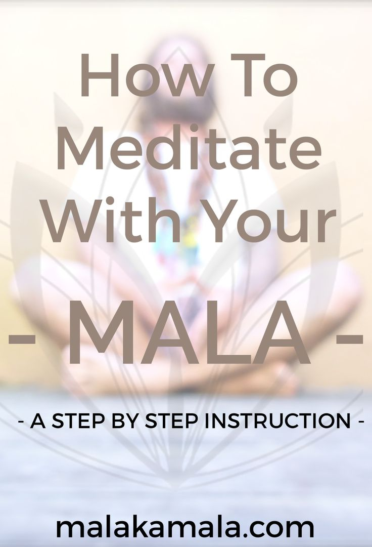 How To Meditate With Your Mala Beads. A Step By Step Instruction - Mala Kamala Mala Beads, Malas, Yoga and Meditation Jewelry  Learn about different types of meditation and how to use a mala  Enjoy! Namaste X