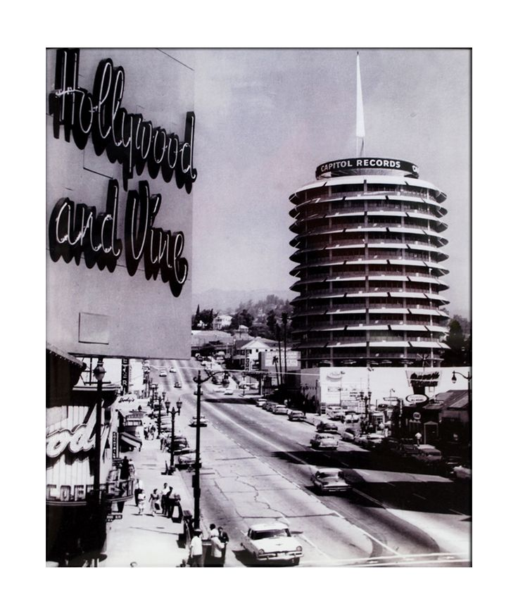 California Cool: Hollywood & Vine + Capitol Records building