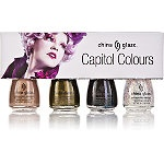 """China Glaze Capitol Colours Gift Set - in honor of The Hunger Games.  Each district has its own color.  I'm fond of """"Smoke and Ash"""" (for District 12) and """"Fast Track"""" (for District 4).: Games Minis, Collection Quantiti, The Hunger Games, Capitol Colour, China Glaze, Minis Collection, Colour Nails, Glaze Hunger, Hunger Games Nails"""