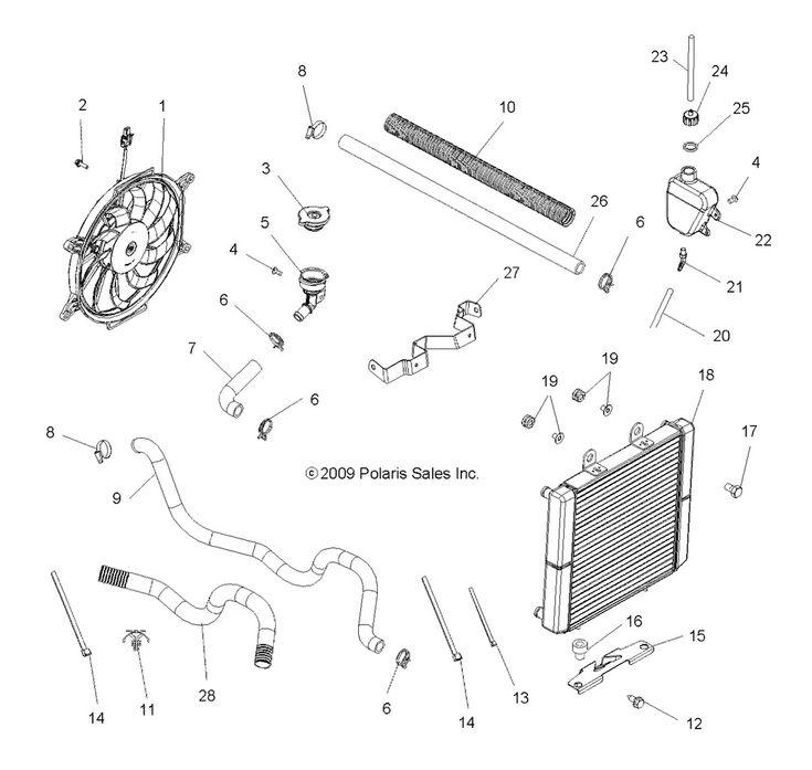 (eBay Advertisement) Polaris HOSELOWER ENGINE 3 4