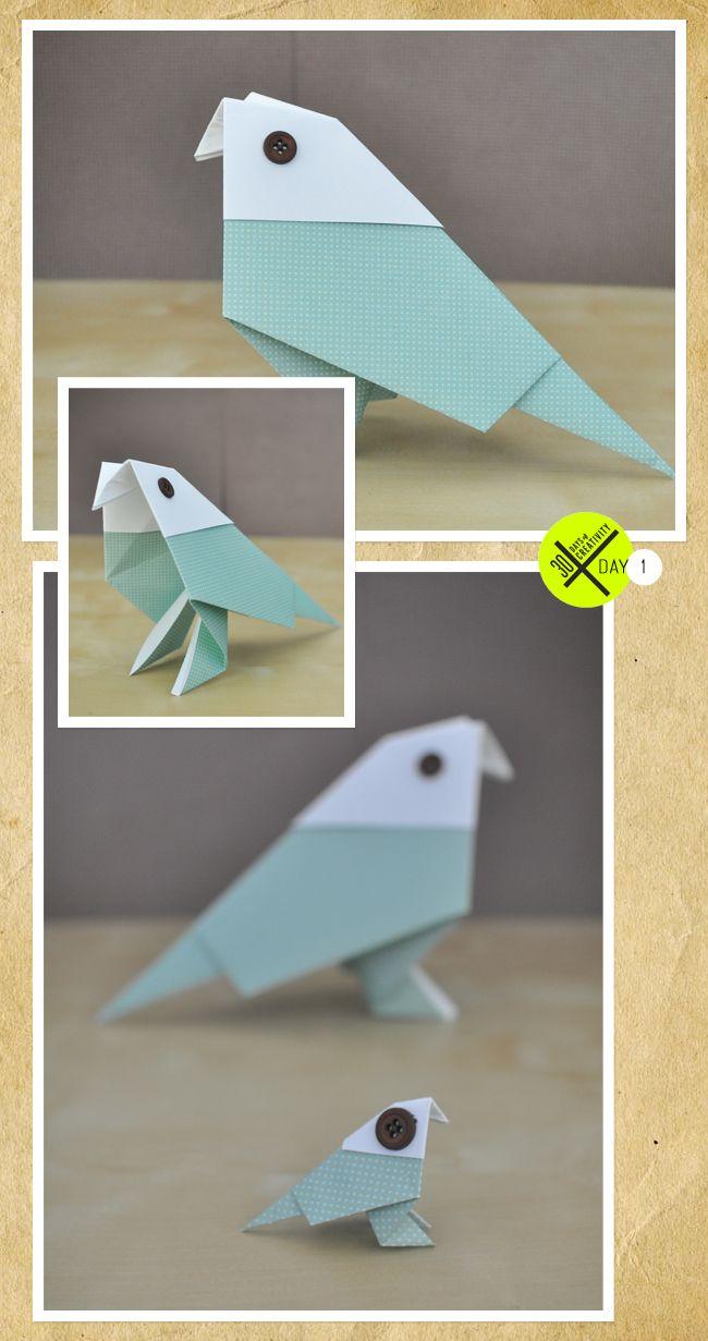 paper folding bird instructions