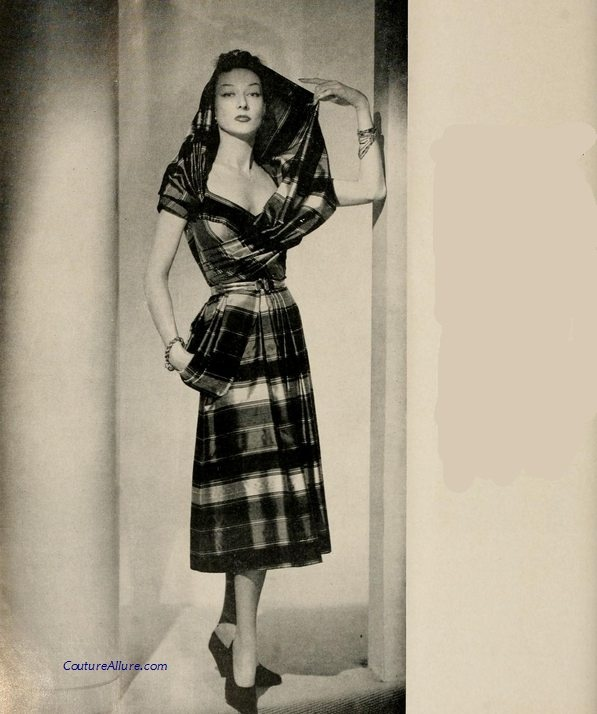 Gilbert Adrian dress, 1951.