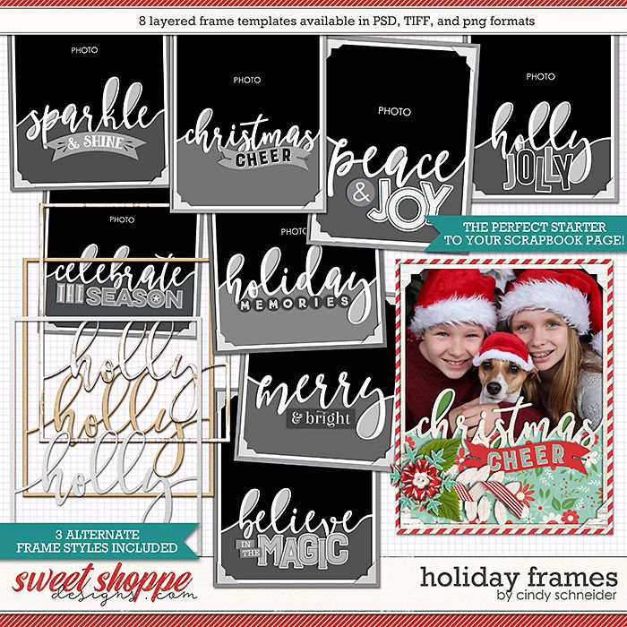 Cindy's Layered Templates - Holiday Frames by Cindy Schneider