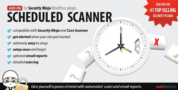 Scheduled Scanner add-on for Security Ninja