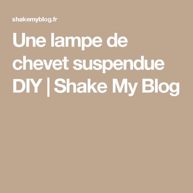 17 meilleures id es propos de chevet suspendu sur - Comment fabriquer une lampe de chevet ...