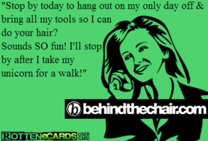 Hairdresser humor