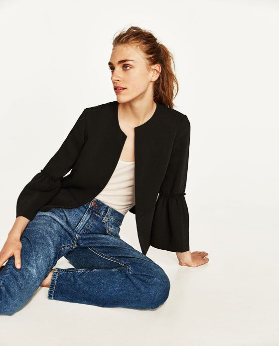 Image 4 of BLAZER WITH BELL SLEEVES from Zara