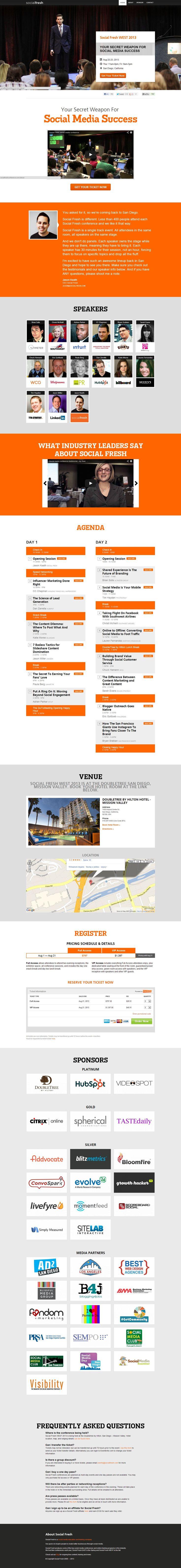 Flat design for Social Media Conference