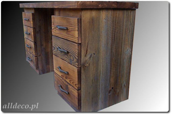 Biurko ze starego drewna/ Bureau en vieux bois