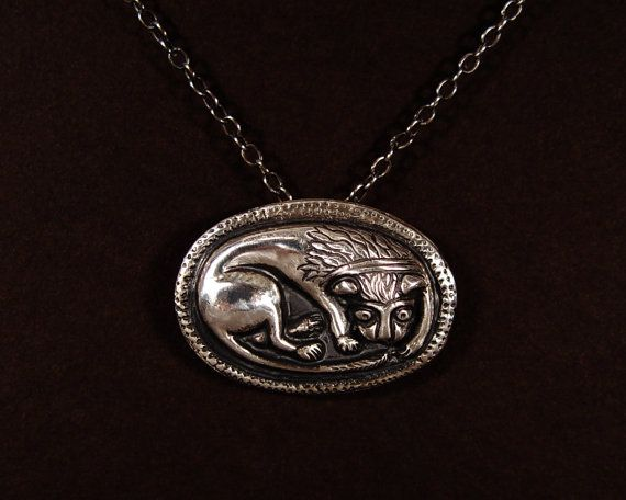 MEDIEVAL style Sterling Lion Pendant by bronzegirl1 on Etsy. Tory Herford