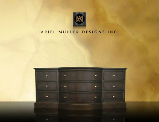 Recognized as a distinguished and versatile design firm, Ariel Muller Designs Inc. specializes in exceeding expectations. Designing exclusive interiors and custom furniture in Canada and internationally for over 20 years has enabled Ariel Muller to produce bespoke designs for discerning clients.