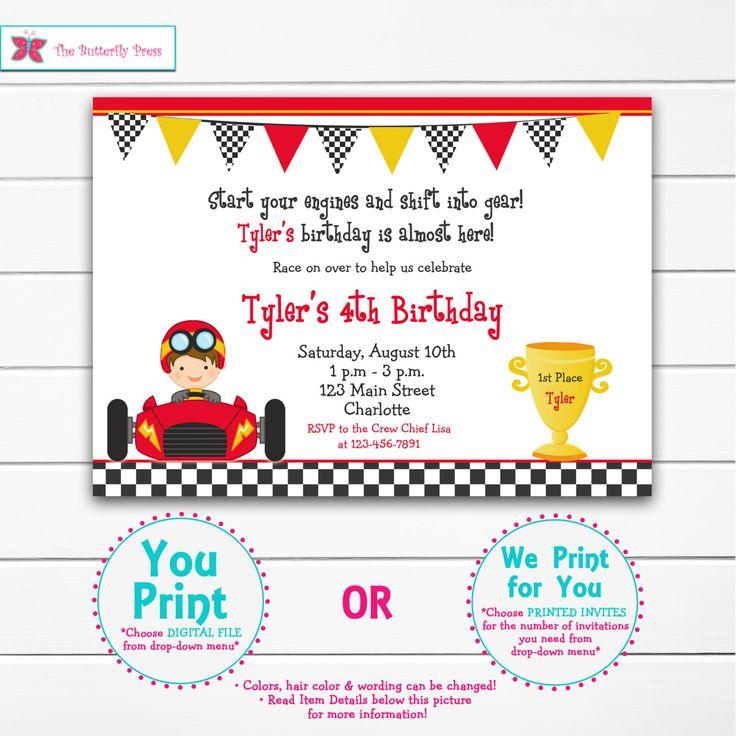 Invitación del cumpleaños de la fiesta de la por TheButterflyPress