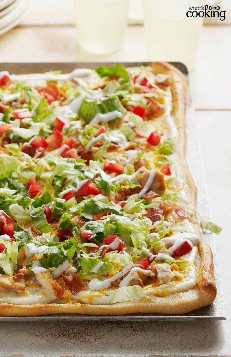 Chicken Club Pizza #recipe