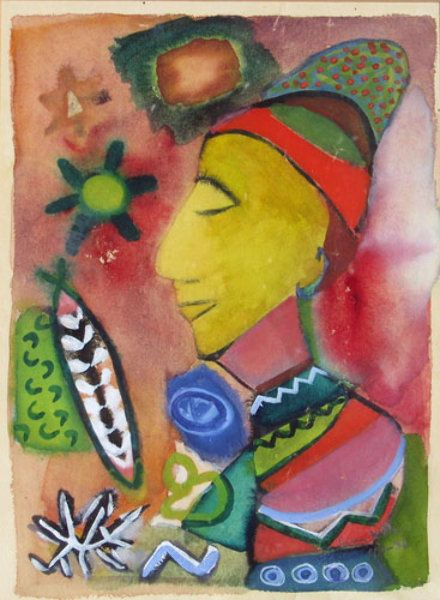 "Watercolor ""Untitled Watercolor"" by Henry Miller"