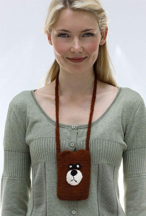 Få enten en bamse eller en ugle til at passe på din mobiltelefon.